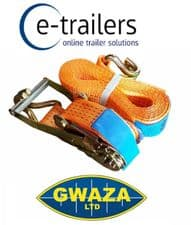 Ratchet Web Strap Load Binder 4.5m x 50mm -Safe Load 2500Kg Max 5000kg GWAZA 877